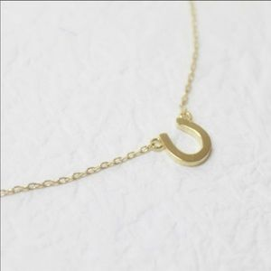Horse Shoe Dainty Gold Necklace